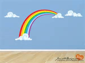Rainbow Wall Stickers Uk rainbow fabric wall decal rainbow wall sticker
