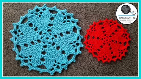 youtube doily pattern crochet floor rug doily heart valentines tutorial youtube