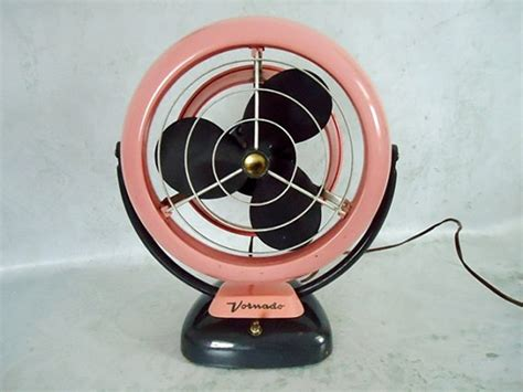fabulous 50s vornado desk fan with original pink paint