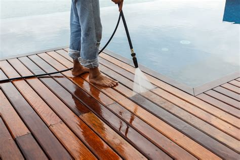 how to pressure wash a deck cape cod cleaning systems