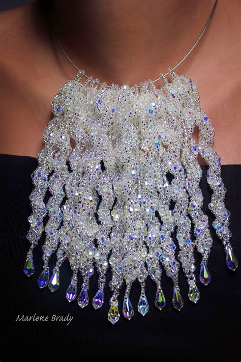 beading gem beaded icicles as ornaments or jewelry the