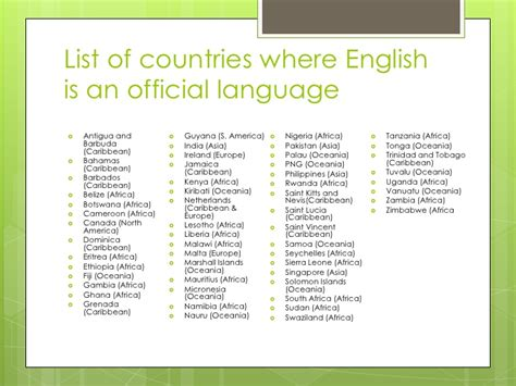 what countries as their official language basic grammar meeting 10