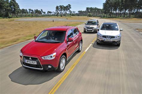 mitsubishi outlander vs asx mitsubishi asx vs rivals tests auto express