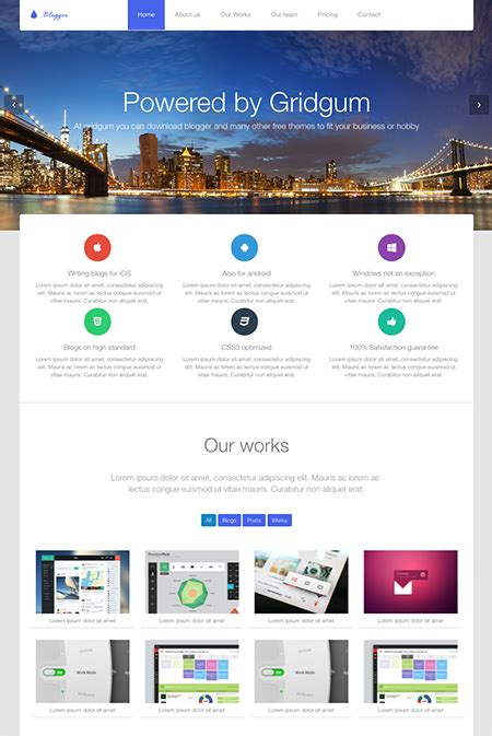 blogger themes bootstrap blogger free bootstrap theme id 33