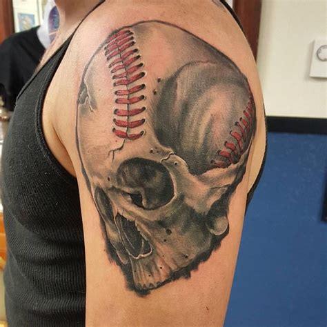 are tattoos addictive baseball skull arm abaddonstudio tattoos by