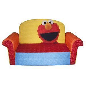 elmo sesame plush chair fold out padded sofa