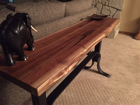 live edge walnut sofa table walnut live edge sofa table ohio hardwood furniture
