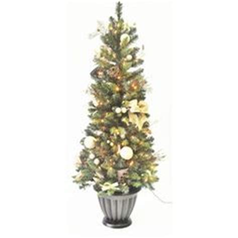 home depot winterberry outdoorlit tree ge 8 ft indoor outdoor winterberry pre lit artificial tree with multicolor led lights