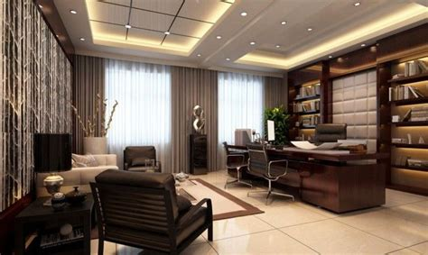 comfortbale nuance for luxury home office decor with brown luxury and modern office interior design for ceo nanny