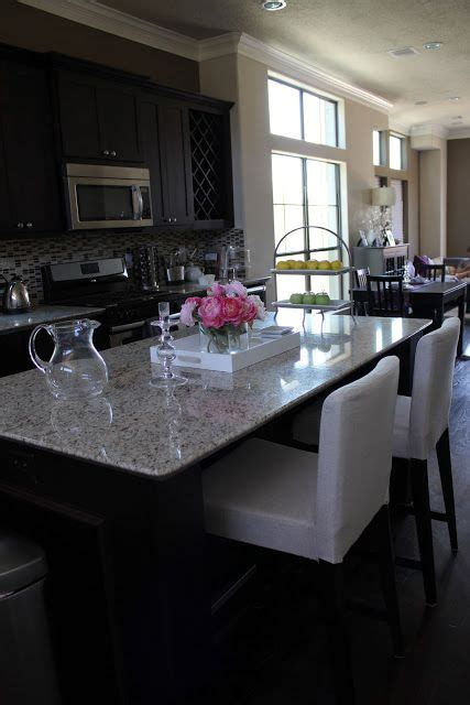 kitchen island tables products i love pinterest kitchen island decor i love the dark cabinets with light