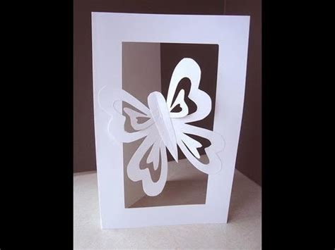 how to make cut out cards make a butterfly cut out card