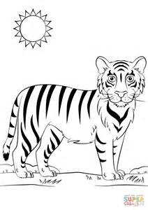 cartoon tiger coloring page free printable coloring pages