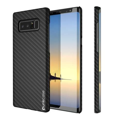 galaxy note  punkcase carbonshield ultra thin layer jet black punkcase uk