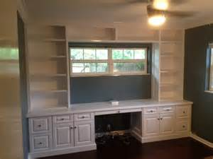 Built In Bookshelves With Desk Ta Florida Custom Carpentry Work Built In Bookcase