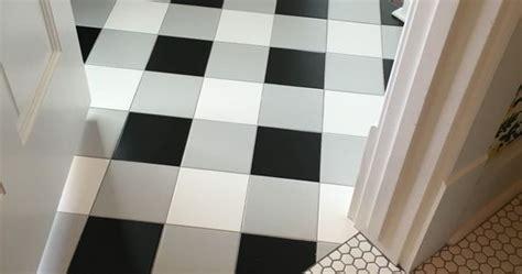 Buffalo check tile flooring   created using standard black