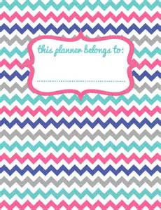 free printable origamiowl inspired binder planner cover