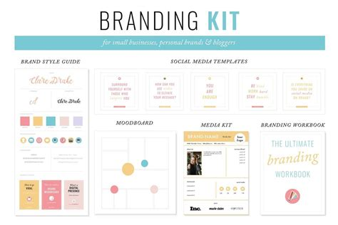 5 Steps To Creating Your Brand Style Guide Clare Drake Branding Kit Template
