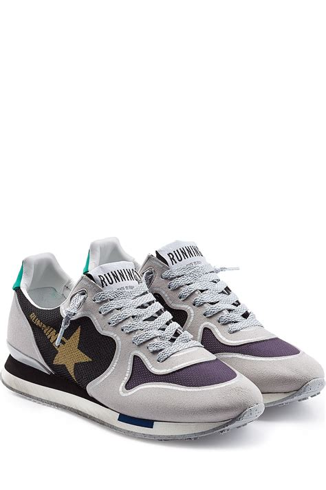 with sneakers golden goose deluxe brand running sneakers with suede