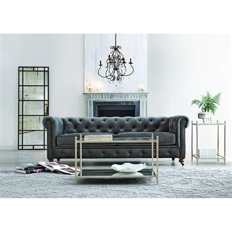 home decorators gordon sofa home decorators collection gordon grey velvet sofa