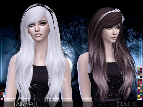 custom hair for sims 4 stealthic fairytale female hair