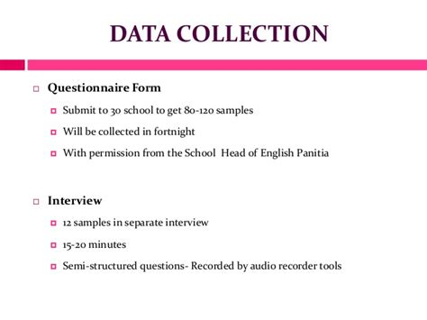 presentation and analysis of data in research paper my research ppt