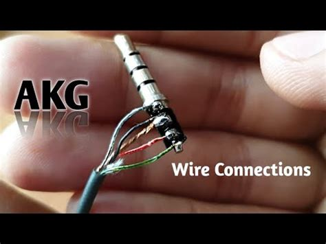 akg headphone wire connection youtube
