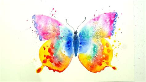 how to paint and color a beautiful butterfly a watercolour speed painting tutorial