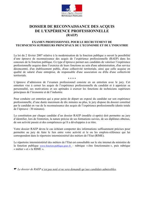 Dossier de RAEP - Economie.gouv.fr