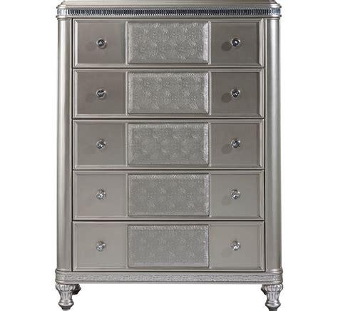 hefner silver 5 drawer chest badcock more