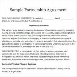 Llc Partnership Agreement Template Free Partnership Agreement 9 Free Pdf Doc Download