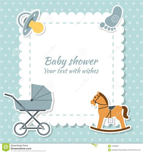 birthday card from baby template baby boy greeting card baby shower stock vector