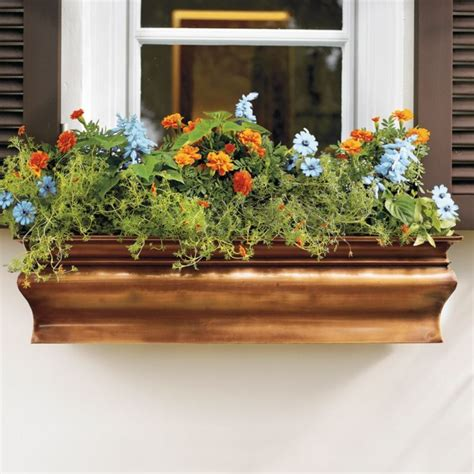 copper window boxes planters copper window flower boxes i want to garden