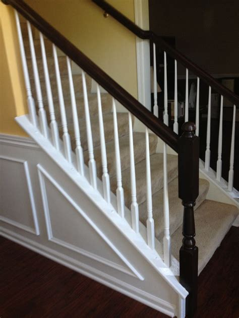Staining Banister by I Used General Finishes Java Gel Stain And Painted