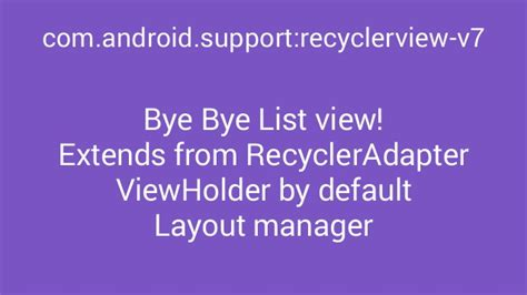recyclerview layout manager exle material for old school