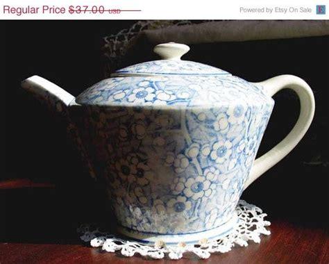 Vintage Antique Blue White Ornate Teapot High Tea Edwardian Floral Porcelain Eur 38 62 1438 Best Vintage Teapots Coffee Pots And Chocolate Pots Images On Tea Pots