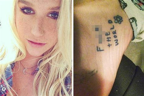 kesha tattoos kesha unveils rude ankle on instagram daily