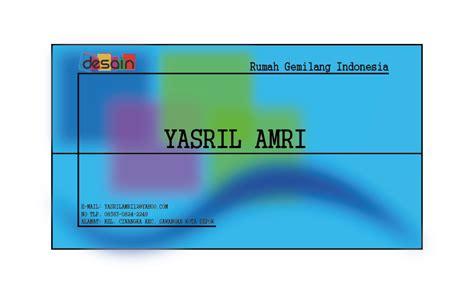 Template Kartu Nama Png   desain kartu nama kelas desain