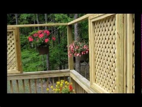 How To Add Lattice Windows To A Deck   YouTube