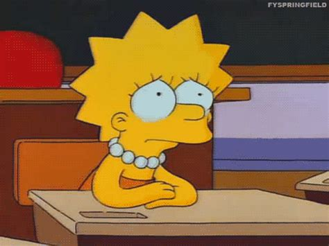 imagenes sad simpsons lisa gifs wifflegif
