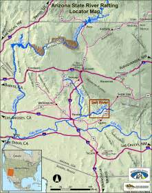 map of arizona rivers wilderness aware arizona salt river salt river rafting