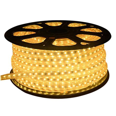 warm white led rope light 120v flexible strip light