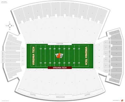 virginia tech interactive map stadium virginia tech seating guide rateyourseats