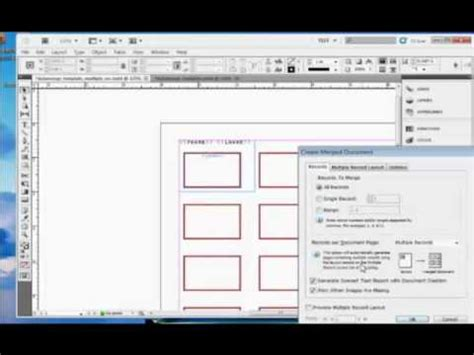 tutorial adobe indesign cs5 indesign tutorial how to perform a data merge in adobe