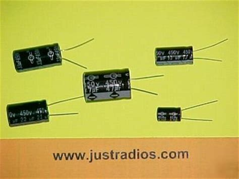 450v radial electrolytic capacitor kit for radio