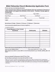 church membership forms template church membership update form template template