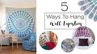 how to hang pictures 5 ways to hang a wall tapestry my crafts and diy projects