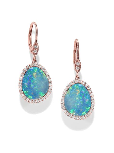meira t opal 14k gold drop earrings in