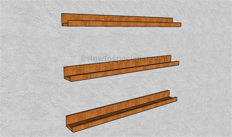 Picture Shelf by Ledge Shelf Plans Howtospecialist How To Build Step