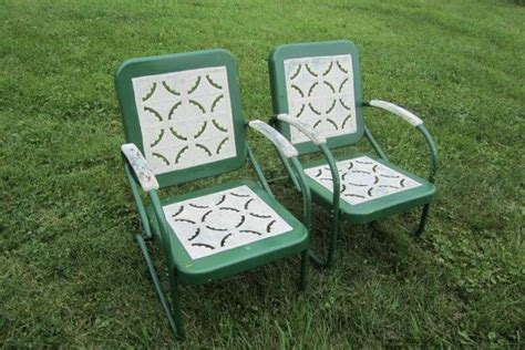 matched set of vintage 1950s outdoor chairs vintage porch