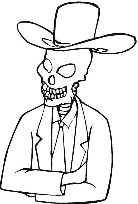 skelton coloring pages coloring pages